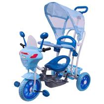 Triciclo Infantil 2 Em 1 C/ Toldo Luzes Música  - Bel Brink