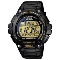 Relógio Casio W S220 Solar Resina Ouro 5alar 31fuso Ws200 Aq