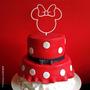 Topo De Bolo Aniversário Minnie Frozen Princesa Acrílico