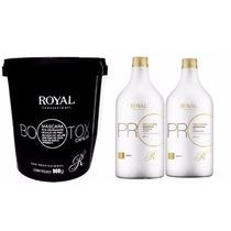 Combo 1escova Royal Promax Oléo Argan +1máscara Btox Capilar