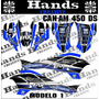 Adesivos 3m Atv Quadriciclo Can Am Ds 450 Red Bull Monster