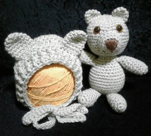 Kit Amigurumi Newborn Touca E Urso d7bff8d29eb