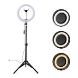 Ring Light Completo Iluminador Portátil 26cm + Tripé 2m Top