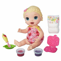 Boneca Baby Alive Loira - Hora Do Lanchinho Comida - Hasbro