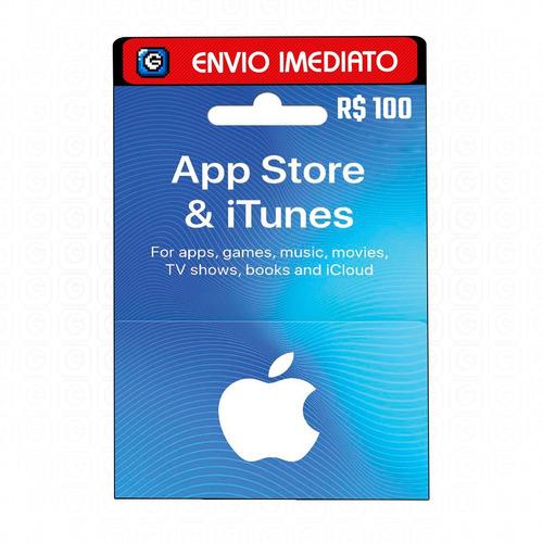 Cartão Gift Card App Store 100 Reais - Apple Itunes Brasil