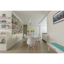 Mesa Saarinen Espirito Oval 1,60 X 0,90 C\ 6 Cadeiras Eiffel