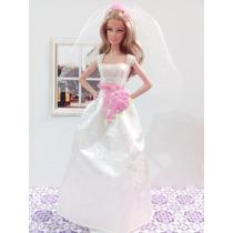 Vestido De Noiva Para Barbie Original Mattel