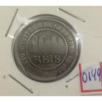 0149 - Moedas Antigas 100 Réis 1886 Império - Mbc+
