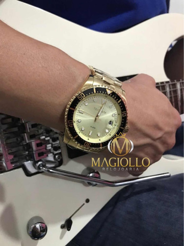 560b01e1d55 Relógio Technos Masculino Dourado 2415ce 4d - Original