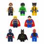 Mini Figuras Super Heróis Lego Style