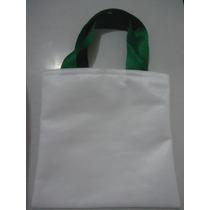 Sacola Ecobag Para Sublimação 10 Pçs 50x50 Tecido Pet