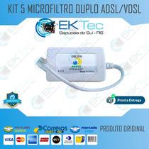 Kit 5 Microfiltro Duplo Adsl/vdsl  Unico Frete