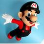 Boneco Novo Super Mario Galaxy Nintendo Roupa Preta 20 Cm