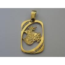 Pingente / Medalha De Ouro 18k - Imagem De São Jorge