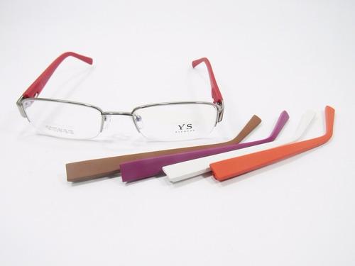 20e035a16 Armação P/ Óculos De Grau Metal Troca Hastes + Lente De Grau