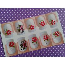 Adesivos De Unha Artesanal - 10 Cartelas Com 10 Adesivos