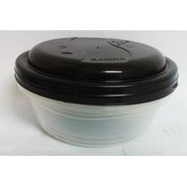 Jogo Com 3 Potes Redondos Plásticos 700ml P/alimentos