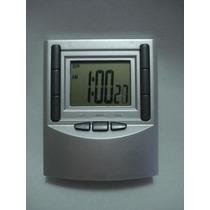 Relógio Digital Despertador Multiuso Mesa Escritório Quarto