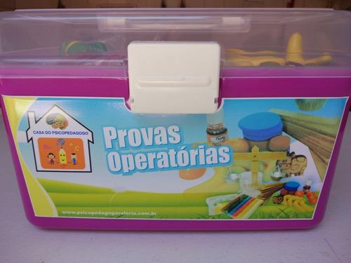 5ca0a3a6897 Provas Operatórias Jean Piaget ( Fichas De Madeira)