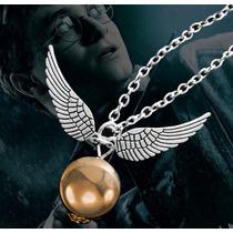 Colar Pomo De Ouro Quadribol Prata Filme Harry Potter