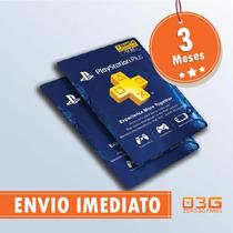 Cartão Psn - Playstation Network Plus 3 Meses - Imediato!