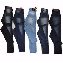 Kit Calça Jeans Masculino Lote 5 Unid Atacado Frete Grátis