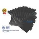 Espuma Acústica C. O. 10 Placas - 50x 50x 3,5cm -antichama