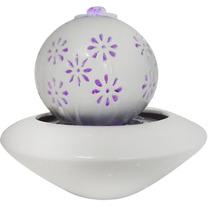 Fonte De Agua Cascata Decorativa Ceramica Luz Led Chafariz