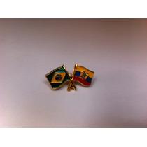Pins Da Bandeira Do Brasil X Equador