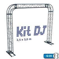Trave Dj Boxtruss Iluminação Treliça Q20 Cto Red.2,5x3,0m
