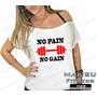 Canoa Feminina Academia No Pain No Gain Zumba Musculação