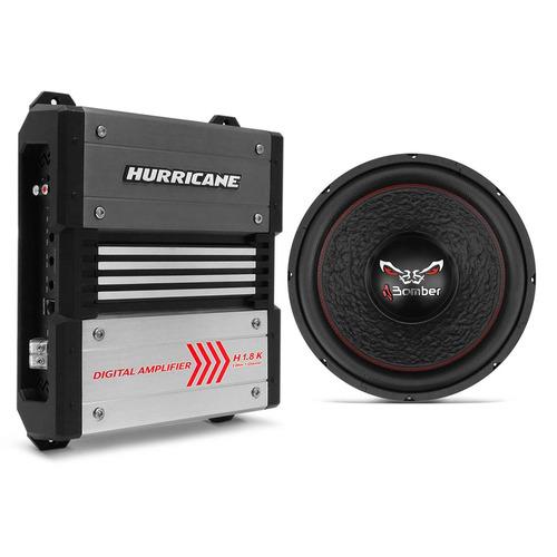 Módulo Hurricane H1.8k Digital + Sub Bomber Bicho Papão 800w