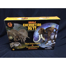 Kit De Escavação Dinossauro Triceratops / Mammoth - Geoworld
