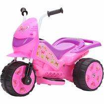 Motoca Moto Elétrica Infantil Speed Lilás E Rosa 6v Brink+