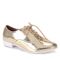 Sapato Oxford Feminino Vizzano - Dourado(a)