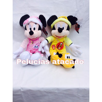 Minie Baby E Mickey Baby De 40 Centimetro Pelucias Kit Com 2
