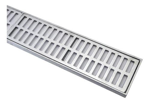 10 Peças Ralo Linear Grelha 15x100 Cm Aluminio Frete Gratis