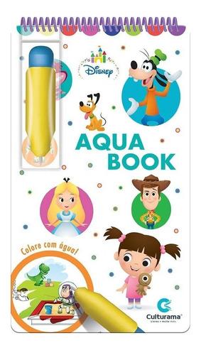 Aquabook Disney Baby Pinta Com Água Livro Capa Dura