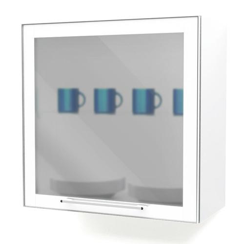 Armário Aéreo Em Aço Casa Mob 1 Porta Com Vidro Play