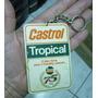 Chaveiro Antigo :   Castrol - Tropical  -  Av. Brasil - Rio Original