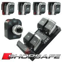 Kit Comando Botão Vidro Retrovisor Eletrico Audi A4 A5 Q5