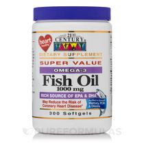 Óleo De Peixe 1000 Mg Omega-3 - 300 Softgels Por Span Clas