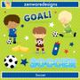 Kit Scrapbook Digital Futebol Imagens Clipart Cod 3