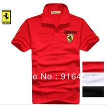 Camiseta Ferrari Formula 1 F1 Gola Polo 3 Cores Frete Gratis