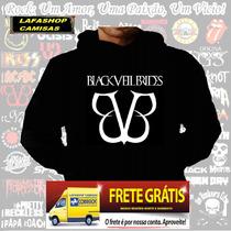 Blusa Moletom Black Veil Brides Capuz Bolso Banda Camisa Bvb