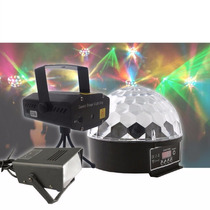 Kit Skyshow Iluminação Projetor Laser Bola Maluca Strobo K48