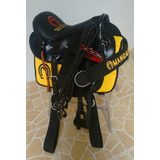 Sela Australiana Mangalarga+peitoral+freio Inox Cela Amarela