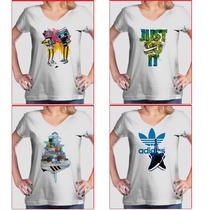 Camiseta Feminina Adidas Nike Sb - Personalizada
