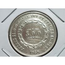 Prata 917 - Antiga Moeda De 500 Rs. Brasil P/coleção