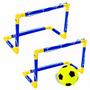 2 Traves Mini Gol Futebol Praia Campo Bola Rede 40x32cm